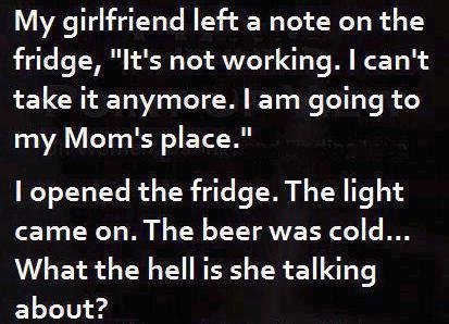she left a note on the fridge funny sex picture