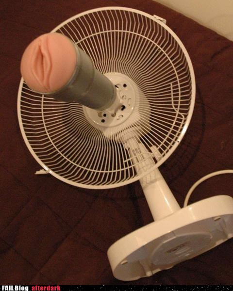 funny sex picture fleshlight masturbator mounted to fan