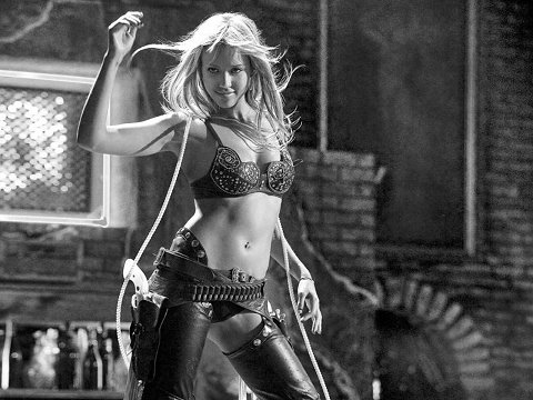blonde gunfighter in leather chaps