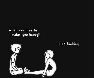 funny sex cartoon how can I make you happy?