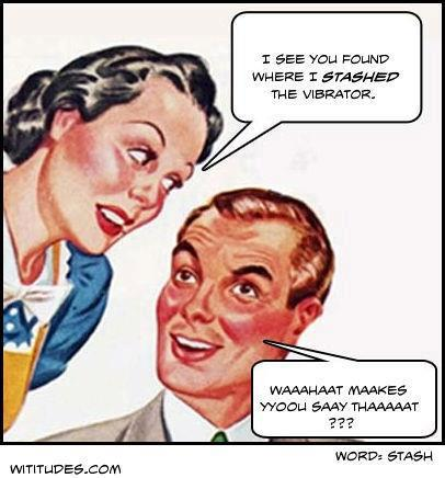 funny sex cartoon husband finds vibrator