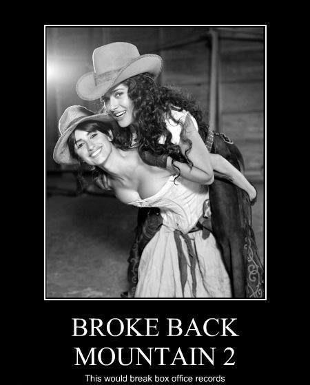 funny sex demotivational brokeback mountain two lesbians
