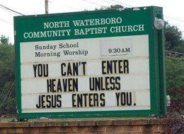 funny sex picture church sign