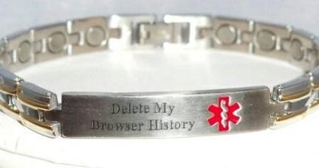 med alert bracelet delete my browser history