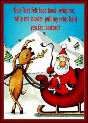 kinky reindeer santa whipping rudolph